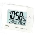 CASIO 全方位溫濕度感應貪睡數位鬧鐘(DQ-982N-7D)-白色