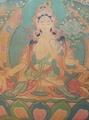 尼泊爾手繪唐卡 白度母唐卡 長壽智慧尊
