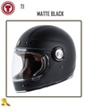 ~任我行騎士部品~ 美國 Torc T1 素消光黑 MATTE BLACK 復古 樂高帽 凱旋 偉士牌 哈雷
