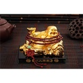 Maiduo car perfume ornaments car decoration imitation Jade Buddha statue seat Maitreya Buddha seat(Golden Buddha +216 Buddha Beads)