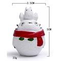 龍貓冬季雪景造型 頭頂嘰喳紅圍巾龍貓