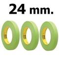 3M 233+ 24มม. กระดาษกาวย่นสีเขียว สำหรับงานรถยนต์ (3 ม้วน) Scotch Performance Green Masking Tape