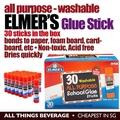 Elmer's Elmers All Purpose School Glue Sticks, Washable 30 Pack (Cheapest in SG)