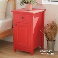 CiS自然行實木家具 收納櫃-原木床頭櫃-矮櫃(聖誕紅)