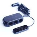 傑森收納家~RHUNDO 分離式 觸碰開關 3孔 雙USB 3.4A 點煙器擴充座+固定線夾(大)*10