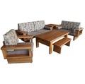 【尚品家具】411-05 萊斯特 柚木自然邊木椅組/1+2+3木組椅/客廳木造沙發組/會客室木製桌椅組