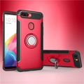 Case For Oppo R11S Plus Finger Ring Holder Magnetic Armor Phone Case For Oppo R11S Plus ShockProof Cover - intl