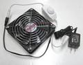 速度控制器 + 電源供應與小型臺式風扇 (風扇) denshi