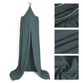 Dark Green Canopy Bed Netting Cotton Mosquito Bedding Net Baby Kids Reading Play Tents