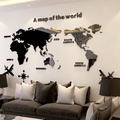 世界地圖3D立體壓克力居家壁貼/牆貼