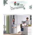 3個 聖誕節氣氛雪人圖案冰箱拉手把手套 防靜電雙開門防撞布藝保護套 廚房用具冰箱微波爐烤箱廚櫃洗碗機把手套烤箱冰箱手柄