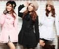 天使嫁衣【HL8888】3色中大尺碼粉領芭比長大衣外套˙預購訂製款