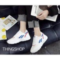 THINGSHOP รองเท้าผ้าใบผู้หญิง  รองเท้าแฟชั่นเกาหลีสไตล์ onitsuka เสริมส้น