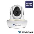 Vstarcam C38s ความชัด 2MP 1080P HD กล้องวงจรปิดไร้สาย ภายใน พูดตอบโต้กันได้  มีเซนเซอร์จับความเคลื่อนไหว WIFI IP Camera Indoor IR Cut ONVIF รองรับ SD card 128 GB