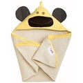 【淘氣寶寶】加拿大 3 Sprouts 連帽浴巾-黃猴子【可當作被毯、包巾或浴巾,一巾三用】【保證公司貨】