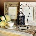 點睛小品。希絲卡鏤空浮雕金屬鳥籠燭台(含掛座)派對婚禮佈置