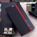 Flip phone case for Samsung Galaxy J2 Pro 2018 Vintage Colour stitching leather Case Book case for Samsung Galaxy J2 Pro 2018 case With Card Slot - intl
