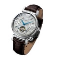 Arbutus Men's Leather Strap Watch AR802SWF