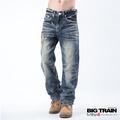 BIG TRAIN TENGO擊垮褲-男-中藍