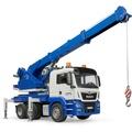 ★含運 《BRUDER》德國大比例擬真 1:16 MAN TGS Crane Truck 工程藍色吊車_RU3770