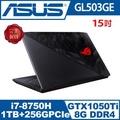 ASUS華碩 GL503GE ROG 15.6吋FHD六核GTX1050 Ti電競筆電