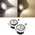 15W Dimmable COB LED Recessed Ceiling Light Fixture Down Light Kit