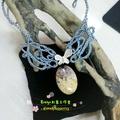 木化玉純銀蝴蝶繩編項鏈設計款