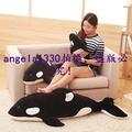 (時尚抱枕熱賣)超軟虎鯨娃娃公仔抱枕韓國搞懶人毛絨玩具鯨魚萌可愛睡覺抱枕女孩