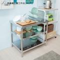 不鏽鋼三層工作台[3X2尺]2680元【JL精品工坊】流理台 置物架 工作桌 電器架