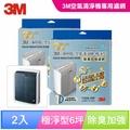 3M 極淨型6坪空氣清淨機專用除臭加強濾網1年份/超值2入組(濾網型號:T10AB-ORF)