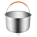 8 Qt Stainless Steel Silicone Handle Steamer Basket For Instant Pot Accessories