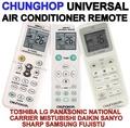 CHUNGHOP Universal Aircon Remote Controller Daikin Sanyo Samsung Sharp Fujitsu LG National Toshiba