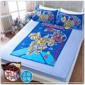 【卡通正版寢具】雙人床包枕套三件組-變形金剛