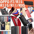 OPPO F7 Latest Case TPU case Leather Smart Stand Cover for OPPO R15 OPPO R11S R11 R9S Casing