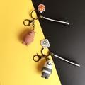 we bare bear┋☊┅We naked bear couple keychain bag pendant three cubs key chain