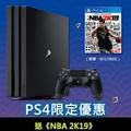 【諸4大吉】PS4 Pro 主機 極致黑 7218型 1TB + NBA 2K19 中文版(台灣公司貨)