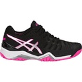 Asics Womens Gel-Resolution 7 Tennis-Shoes, Black/Silver/Hot Pink (8 Medium US)