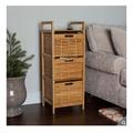 (宅配免運)三層置物籃 Birdrock Home 三層竹製收納架 置物櫃 置物盒 層架 竹製 抽屜層櫃 三層架 好市多