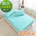 LooCa 日本瞬涼冰絲床包枕套組(雙人5尺)