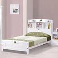 HAPPYHOME 菲莉絲白色3.5尺彩繪書架加大單人床架653-4不含床頭櫃-床墊