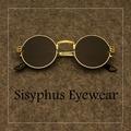 gd同款眼鏡韓版圓框個性墨鏡太陽眼鏡 金屬復古近視有度數男女