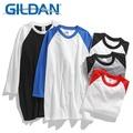 GILDAN 76700 【七分袖】 棒球T 內搭 單穿 秋天 素色 T恤 拼接 寬鬆衣服 短袖衣服 衣服 T恤