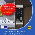 Yale YDR3110 Hi-Tech Card/ Keypad Digital Door Lock