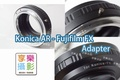 [享樂攝影] Konica AR HEXARNON 轉接 FX Fujifilm X-Mount轉接環 送後蓋 X-Pro1 X接環 無限遠可合焦 XE1 X-Pro1