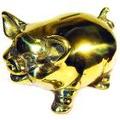【金存錢豬】 豬銅雕(撲滿)存錢筒