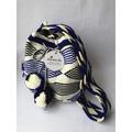 【Mimede】Wayuu包 水桶包 斜背包 側背包(藍白款) 哥倫比亞手工編織 現貨 僅此一件