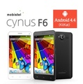 mobistel cynus f6 / DUAL SIM(up to Two SIM cards) / Android 4.4(Kitkat) / Quad Core Processor with 13GHz