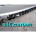 BMW E46 2D 4D M-TECH CARBON 後保桿專用下巴~