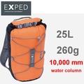 【速捷戶外】瑞士 EXPED Cloudburst 25L防水背包/防水包/攻頂小背包 (黑橘) 61971 / 2018002