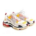 【BALENCIAGA】Triple-S Sneaker 運動鞋/老爹鞋 (女款)(粉/黃)